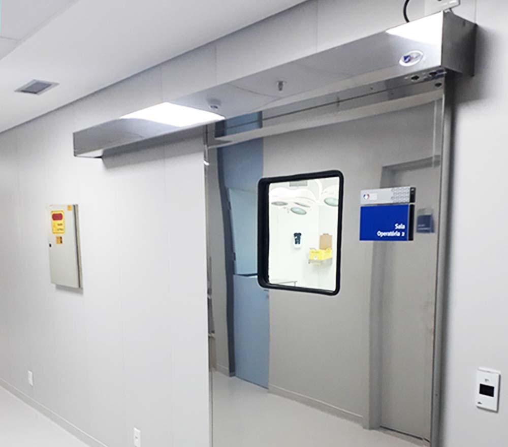 Portas automáticas para centros cirúrgicos UTIs